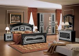Black And Silver Bedroom Furniture by Aida Italian Bed Black With Silver Classic Bedroom