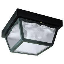 westinghouse 2 light black on hi impact polypropylene flush mount exterior fixture with