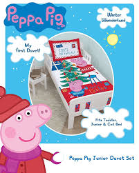 Peppa Pig Bed Set by Peppa Pig And George Pig Christmas Tree Junior Duvet Cover Set