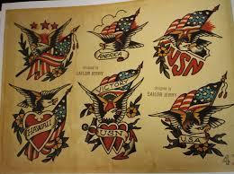 tiger tattoos sailor jerry original flash 1