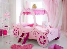 princess carriage bed frame girls kids 3ft single pink ebay