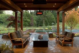 Outdoor Covered Patio Design Ideas by Rectangular Fire Pit Cooke Hammered Copper With And Patio Ideas