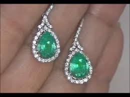 lost earrings lost emerald diamond earrings set in