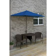 5 Foot Umbrella Patio Blue Terrace Mates Genevieve 5 Java Patio Bistro