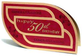 a 50th birthday greeting card that u0027s elegant yet simple to make