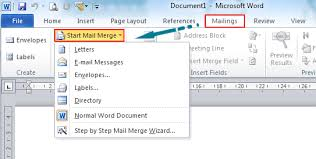 How To Build A Resume In Word Where Is The Mail Merge In Microsoft Word 2007 2010 2013 And 2016