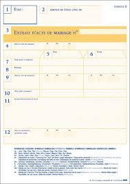 demande acte de mariage extrait d acte de mariage plurilingue sécurisé extraits