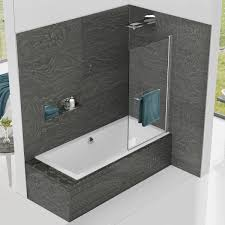 kudos inspire 6mm standard bath shower screen with towel rail