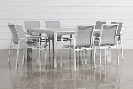 biscayne 9 piece square outdoor dining set living spaces