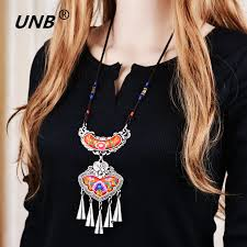ethnic necklace jewelry images 2017 bohemian ethnic embroidery necklace embroidered big flower jpg