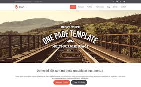 start responsive one page template bootstrap landing pages