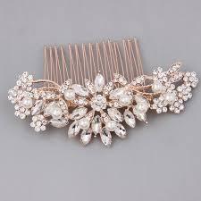 pearl hair comb gold bridal hair accessories pearl hair comb melinda