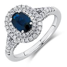 sapphire rings designs images Michael hill designer ring with sapphire 1 2 carat tw of jpg