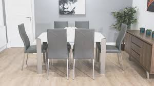 dining room simple grey leather chairs dining room decorating