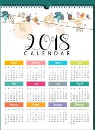 Kalender 2018 Free 2018 Calendar Vector Free Vector 1 490 Free Vector For