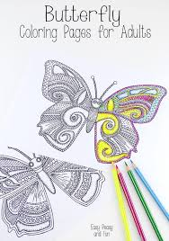 detailed butterfly coloring pages for adults butterfly coloring pages for adults easy peasy and fun