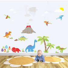 deluxe dinosaur nursery wall art sticker scene deluxe dinosaur nursery wall stickers