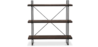 Iron And Wood Bookcase Industrial Metal And Wood Bookcase