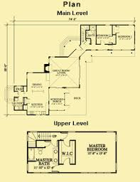 unique house plans with two separate wings and 3 bedrooms