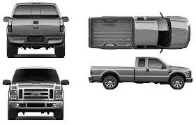 Ford F250 Concept Truck - car blueprints 2009 ford f 250 super pick up blueprint