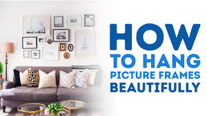 how to hang picture frames beautifully l 5 minute crafts youtube
