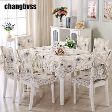 tablecloths and chair covers 2017 new dandelion flower design table cloth 9pcs set simple