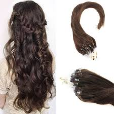 micro rings hair extensions micro ring loop remy human hair extensions brown 4 1g s 50g