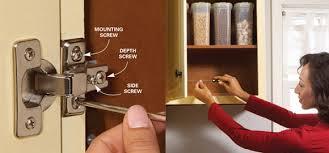 how to adjust european cabinet door hinges adjust euro hinges door alignment trick centrocarpintero