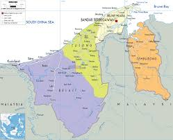 Asia Political Map Detailed Clear Large Map Of Brunei Ezilon Maps