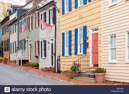 historic homes in the colonial annapolis historic district near