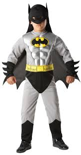 boys deluxe batman muscle kids superhero fancy dress halloween