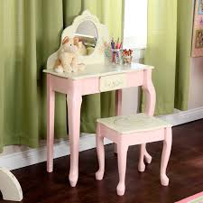 Bedroom Vanity Table Fantasy Fields Bouquet Girls Oval Mirror Bedroom Vanity U0026 Stool