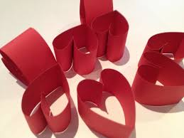Valentines Day Decoration Heart Wreath Papercraft Valentines Day Decoration Valentine