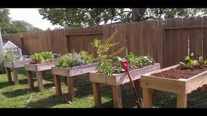 Backyard Raised Garden Ideas by Garden Ideas Raised Garden Bed Youtube