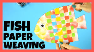 fish paper weaving craft paper crafts for kids youtube