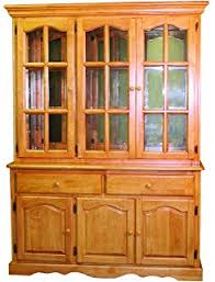 amazon com two piece china cabinet with stars medium china