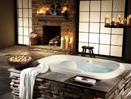 cool small bathrooms bathroom cool small bathroom design with stone fireplace and