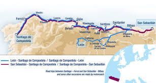 Santander Spain Map by El Transcantabrico Gran Lujo Luxury Train Spain