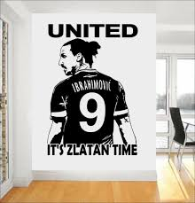 aliexpress com buy zlatan ibrahimovic football star wall art 3d aliexpress com buy zlatan ibrahimovic football star wall art 3d poster soccer wall stickers for kids room boy bedroom wallpaper mural a210 from reliable
