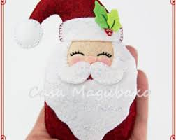 ornaments santa and mrs claus ornament felt santa