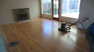 buffing hardwood floor