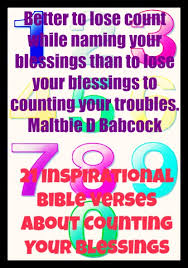 inspirational bible verses counting blessings
