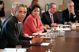 who was in washington s cabinet president obama holds cabinet meeting photos and images getty images
