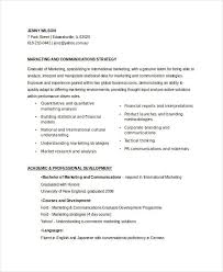 Marketing And Communications Resume New Grad Entry Level by Marketing Resume Samples 43 Free Word Pdf Documents Download