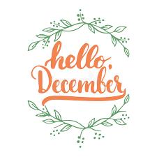 imagenes hola diciembre dé la frase exhausta de las letras de la tipografía hola diciembre
