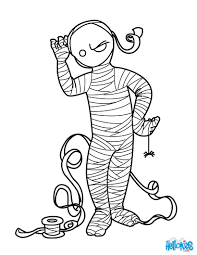 mummy coloring pages scary mummy coloring pages hellokids coloring