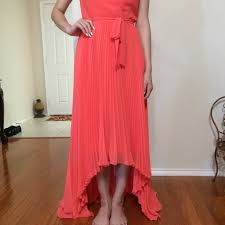 65 off bcbg dresses u0026 skirts bcbg high low coral dress from