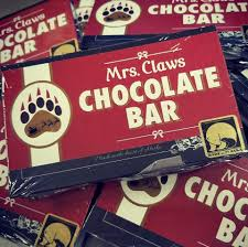 cool claws home of mrs claws chocolate bar pole alaska