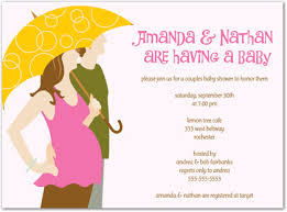 couples baby shower invitations holding umbrella girl baby invitations myexpression 24554