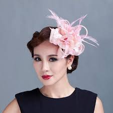 hair fascinators online shop women teal loop sinamay hair fascinators with feathers